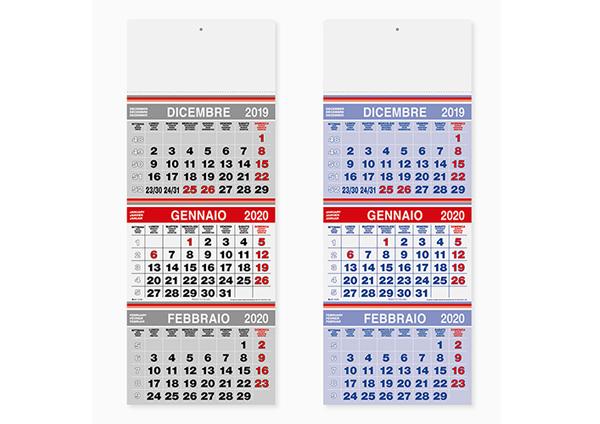 Calendario Trimestrale 2020.Calendario Trittico Trimestrale Pa 505